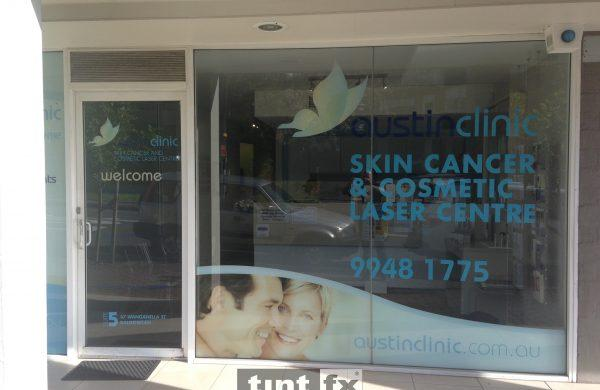 Corporate Signage and Solar Control - Austin Clinic