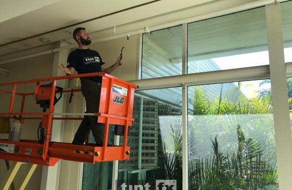 Solar Gard TrueVue 15 Port Macquarie Base Hospital internal image scissor lift