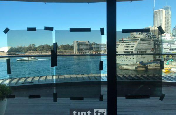 Solar Gard Sentinel Plus Stainless Steel 40 OSW Sydney Park Hyatt Dawes Point September 2018 internal image 03 with and without film comparison