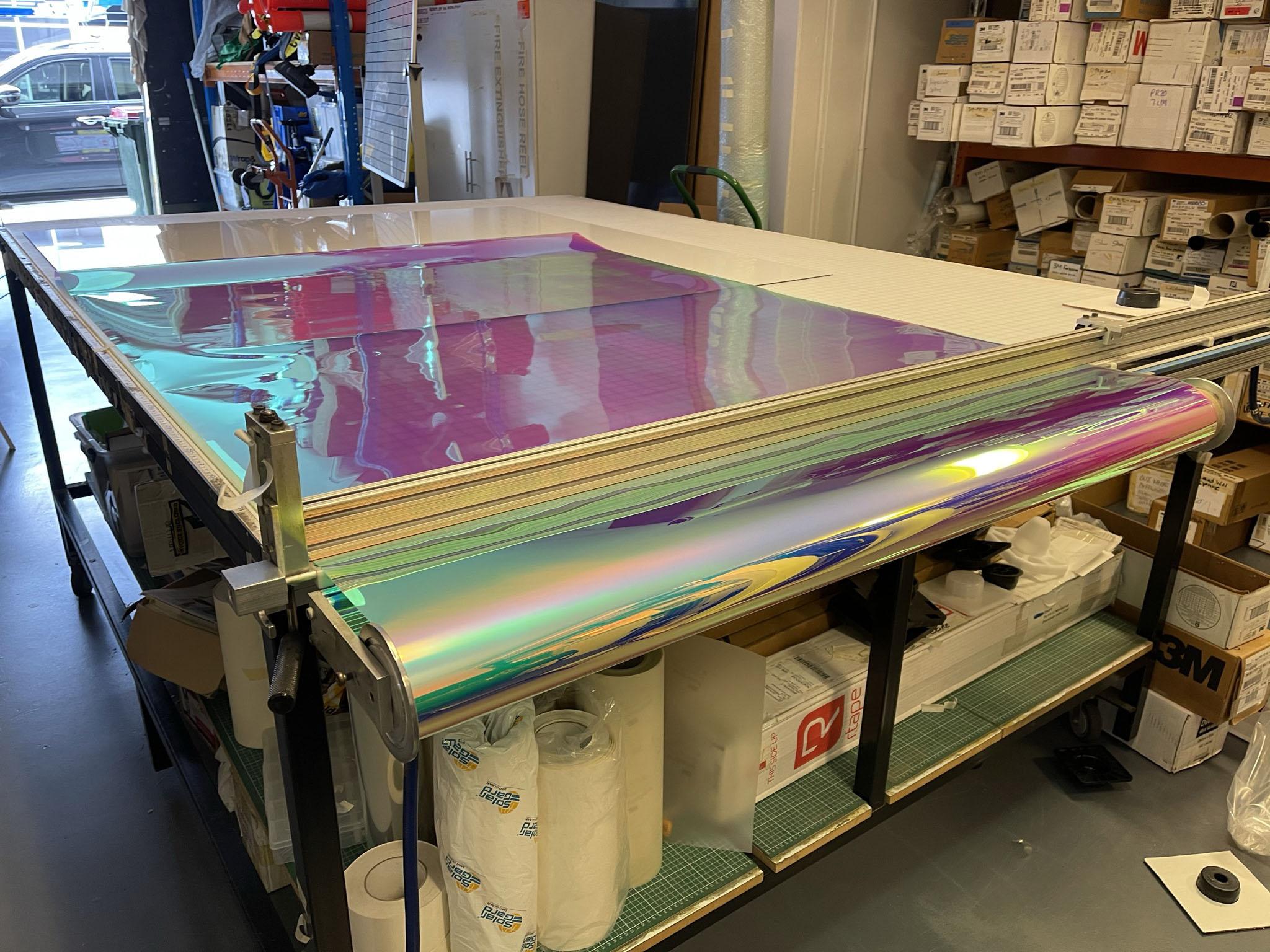3M DICHROIC™ Glass Finishes DF Blaze C Potts Point work in progress 01