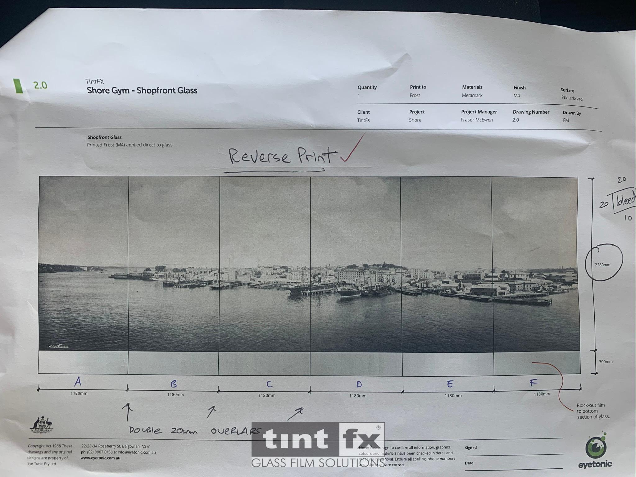 Metamark M4 Custom Printed C Walsh Bay artwork prove