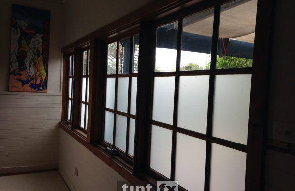 Residential Window Tinting - Privacy Window Film -3M Dusted Frost - Collaroy