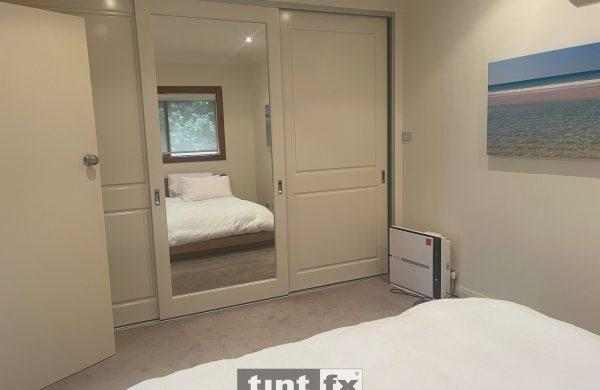 Residential Window Tinting - Feng Shui - Sliding Mirror Bedroom Door - Cromer - Before - TintFX