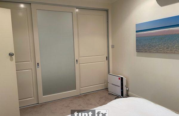 Residential Window Tinting - Feng Shui - Sliding Mirror Bedroom Door - Metamark M7 Silver Etch - Cromer - After - TintFX