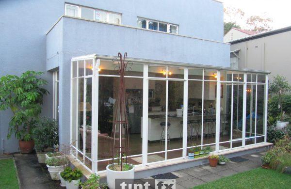 Residential Window Tinting - Solar Control Window Film - Solar Gard Stainless Steel 50 Silver AG Low E 50 - Year Round Comfort in Atrium - Castlecrag