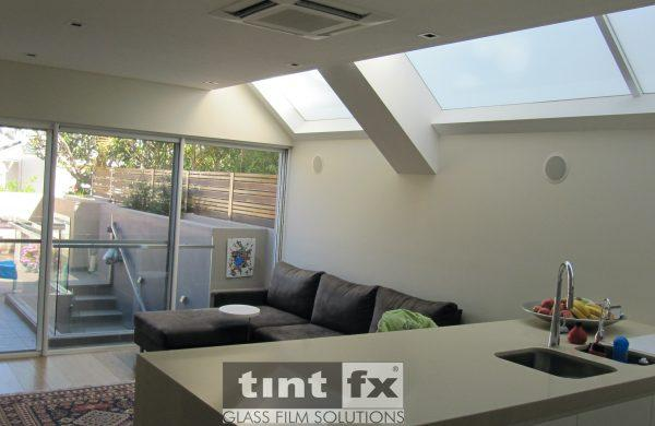 Skylight and Sliding Door - Heat Reduction - 3M Dusted Crystal and Solar Gard Sterling 60 - Paddington