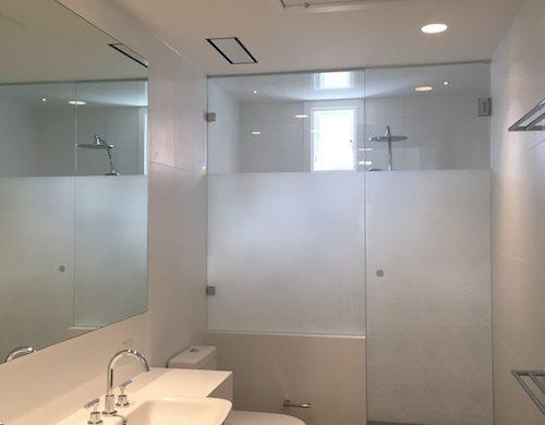 Bathroom Privacy, Decorative Window Film, Solyx Organic Cotton, Woolwich, TintFX