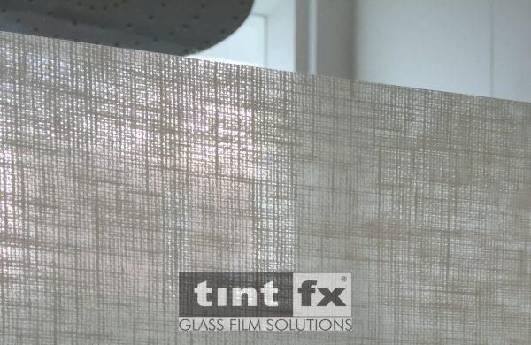 Bathroom Privacy, Decorative Window Film, Solyx Organic Cotton, TintFX