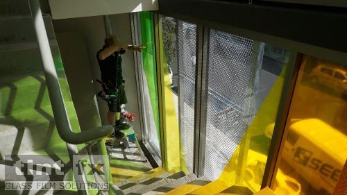 Coloured Transparent Films, Oracal 8300, Cumberland Building - Hall Street, BONDI, NSW