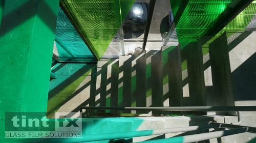 Coloured Transparent Films, Oracal 8300, Cumberland Building - Hall Street, BONDI, NSW, TintFX