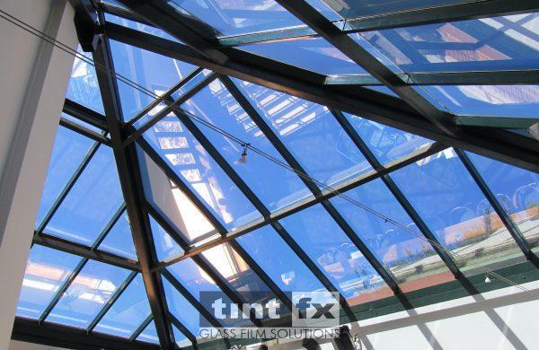 Dark Solar Window Film, Solar Gard Silver 20, Buena Vista Hotel, Mosman, atrium pyramid, TintFX
