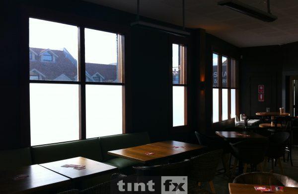 Dark Solar Window Film, Solar Gard Silver/Grey 20, Solar Gard Clear Frost, Buena Vista Hotel, Mosman, TintFX