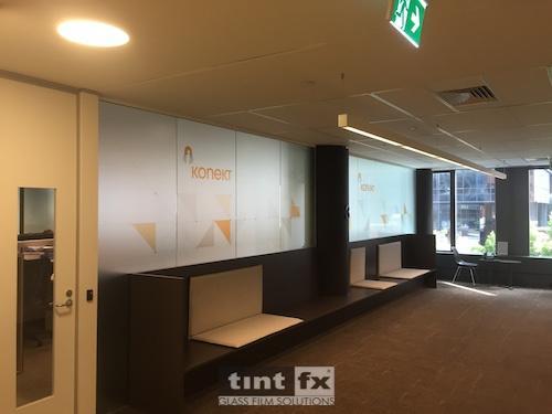 Corporate Identity, Metamark Dusted Etch Digital print Montage Interiors - Konekt, TintFX