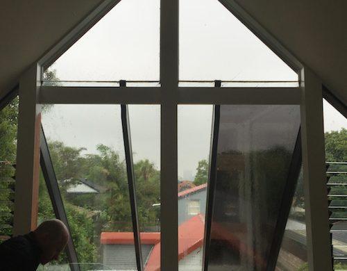 Atrium Windows - Dark Window Film for heat and glare relief - Solar Gard Night Sky 10 and 20 and Solar Gard TrueVue 15 and 30 - Willoughby -