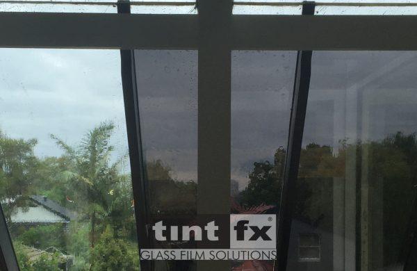 Atrium Windows - Dark Solar Window Film - Solar Gard NightSky 10 and 20, Solar Gard TrueVue 15 and 30, Willoughby, TintFX