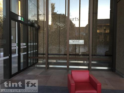 SureLinc Group - Queens Square Law Courts, 3M FASARA Milky Crystal SH2MLCRX, 02 Before, TintFX