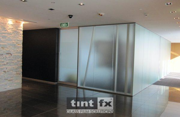 Metamark Frost - The Cube - World Square Building, TintFX, office glass partitions